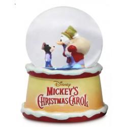 Mickey's Christmas Carol Snow Globe Scrooge McDuck as Ebeneezer Scrooge