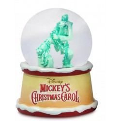 Mickey's Christmas Carol Snow Globe Goofy as Marley's Ghost