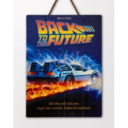 Back to the Future: Movie Poster Wooden Art