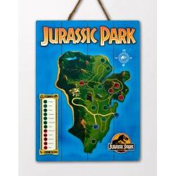 Jurassic Park: Isla Nublar Map Wooden Art