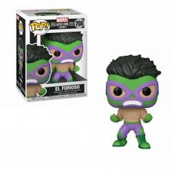 Funko Pop 708 El Furioso (Hulk), Marvel Lucha Libre