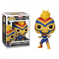 Funko Pop 710 La Estrella Cosmica (Captain Marvel), Marvel Lucha Libre