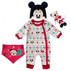 Mickey Mouse Holiday Gift Set for Baby 0-3M