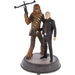 Han Solo and Chewbacca Light Up Figurine Statue – Star Wars: The Force Awakens