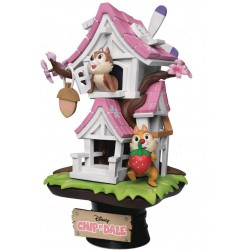 Beast Kingdom Disney's Chip 'n' Dale Treehouse (Cherry Version) D-Stage Series Statue