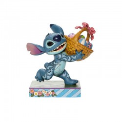Disney Traditions - Stitch Running w/Easter Basket