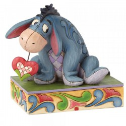 Pre Order - Disney Traditions Heart on a String - Eeyore Figurine