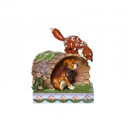 Disney Traditions - Fox and Hound on Log
