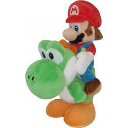 Super Mario Bros.: Mario Riding Yoshi Knuffel 21cm