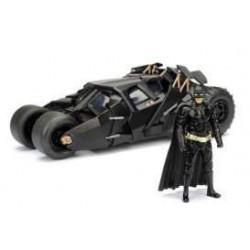 Batman The Dark Knight Diecast Model 1/24 2008 Batmobile with figure