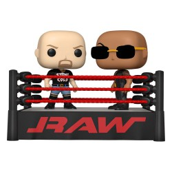 Funko Pop 2-Pack WWE The Rock vs Stone Cold in Wrestling Ring