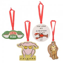 Friends: Set of 4 Christmas Ornaments