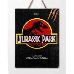 Jurassic Park WoodArts 3D Wooden Wall Art Logo 30 x 40 cm