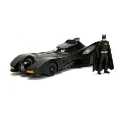 DC Comics: 1989 Batman Batmobile with Batman Build N Collect Black 1:24
