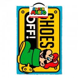 Nintendo Super Mario Shoes Off doormat