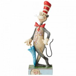 The Cat in the Hat with Umbrella Figurine
