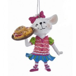 Pastel Color Mouse With Sweets Ornament (V1)