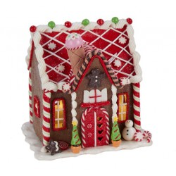 Claydough LED Gingerbread House Tablepiece V1), Battery Operated