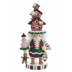 Hollywood Nutcracker Gingerbread House Hat, Battery-Operated LED