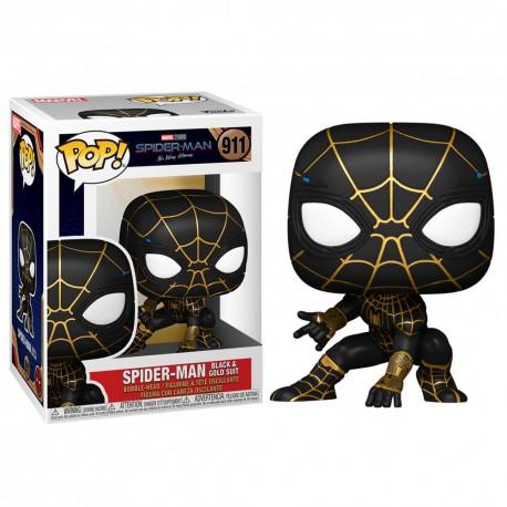 Funko Pop 911 Spider-Man (Black & Gold Suit), Spider-Man: No Way Home