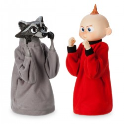 The Incredibles Jack-Jack and Raccoon Boxing Puppet Set