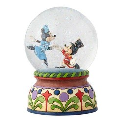 Disney Traditions Mickey & Minnie Nutcracker Musical A Magical Moment Snow Globe