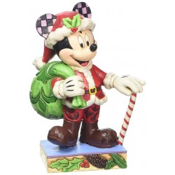 Disney Traditions Holiday Cheer Mickey Mouse Figurine