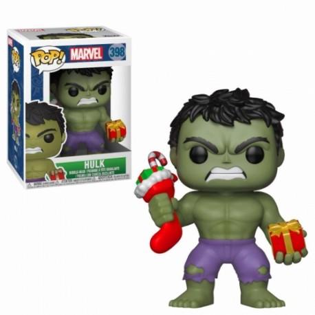 Funko Pop 398 Hulk With Christmas Stocking