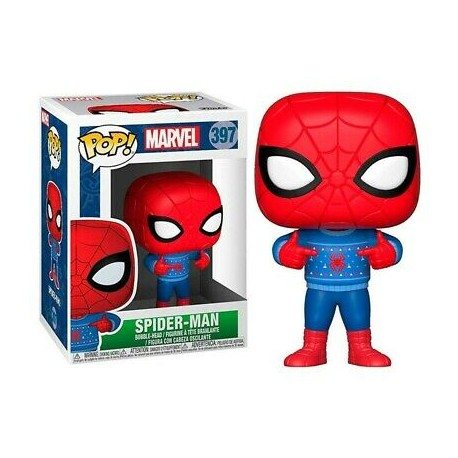 Funko Pop 397 Spider-Man With Ugly Sweater