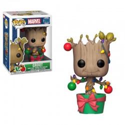 Funko Pop 399 Groot met Kerstverlichting