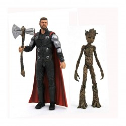 Avengers Infinity War Marvel Select Action Figures Thor & Groot 18 cm