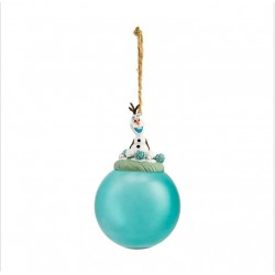 Disney Frozen Olaf Glass Bauble Ornament