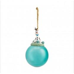 Disney Frozen Olaf Glass Bauble Ornament