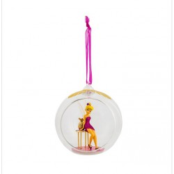 Disney Tinker Bell and Pedestal Table Glass Bauble Ornament