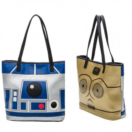Star Wars Tote Bag R2 D2 C 3po Two Sided Loungefly Wondertoys Nl