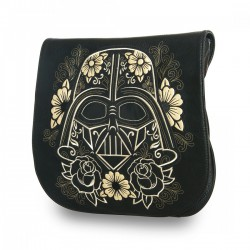 Loungefly Star Wars Darth Vader Gold Sugar Skull Crossbody Bag