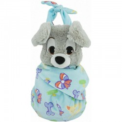 Scamp Plush with Blanket Pouch – Disney's Babies, Lady And The Tramp