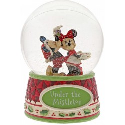Disney Traditions - Under The Mistletoe (Mickey Mouse & Minnie Mouse Snowglobe)