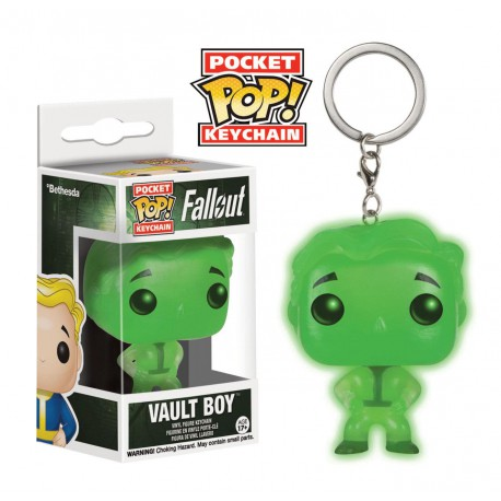 Funko Pocket Pop Keychain Fallout Vault Boy Glow In The Dark