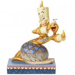 Disney Traditions - Romance by Candlelight Lumiere and Plumette Figurine