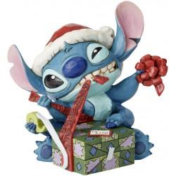 Enesco Disney Traditions by Jim Shore Santa Stitch Wrapping Present