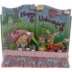 Disney Jim Shore Tradition Alice In Wonderland StoryBook (Happy Unbirthday)