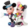 Disney by Britto Mickey Mouse and Minnie Mouse Wedding Stone Resin Figurine