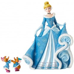 Enesco Disney Showcase Couture de Force Holiday Cinderella with Jaq and Gus Figurine Set