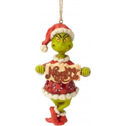 Enesco Dr. Seuss The Grinch by Jim Shore Naughty and Nice Sign Hanging Ornament
