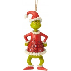 Enesco Dr. Seuss The Grinch by Jim Shore Dressed as Santa Hanging Ornament