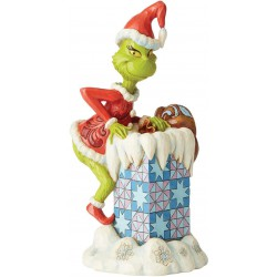 Enesco Grinch by Jim Shore Grinch Climbing in Chimney Figurine