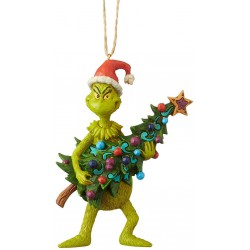 Enesco Grinch by Jim Shore Grinch Holding Tree Ornament