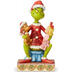 Enesco Grinch by Jim Shore Grinch with Cindy and Max Figurine