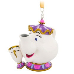 Disney Mrs. Potts and Chip Hanging Ornament, Beauty & The Beast